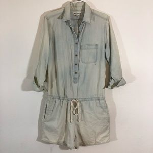 Madewell Medium Chambray Jumpsuit Romper